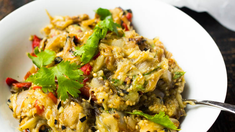 Grilled Eggplant and Vegetables Salad photo 1