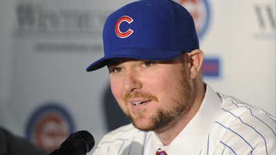 Cubs introduce Lester, new era photo