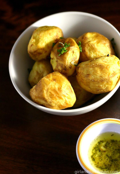 Golden Potatoes with Garlic Chive Butter photo 1