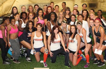 Interview with (almost) lingerie football photo