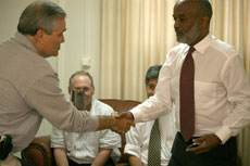 Federation leaders meet Haiti's President photo 2