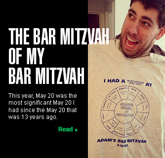 The Bar Mitzvah of My Bar Mitzvah slide